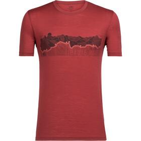 Icebreaker Tech Lite Haute Route SS Crewe Shirt Herr vintage red